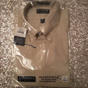 Stafford Easy Care Men's LS Dress Shirt ~ 17 34/35